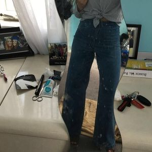 Flared-high waisted Forever21 Jeans